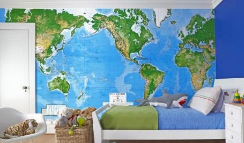 Map ideas for decorations in bedrooms