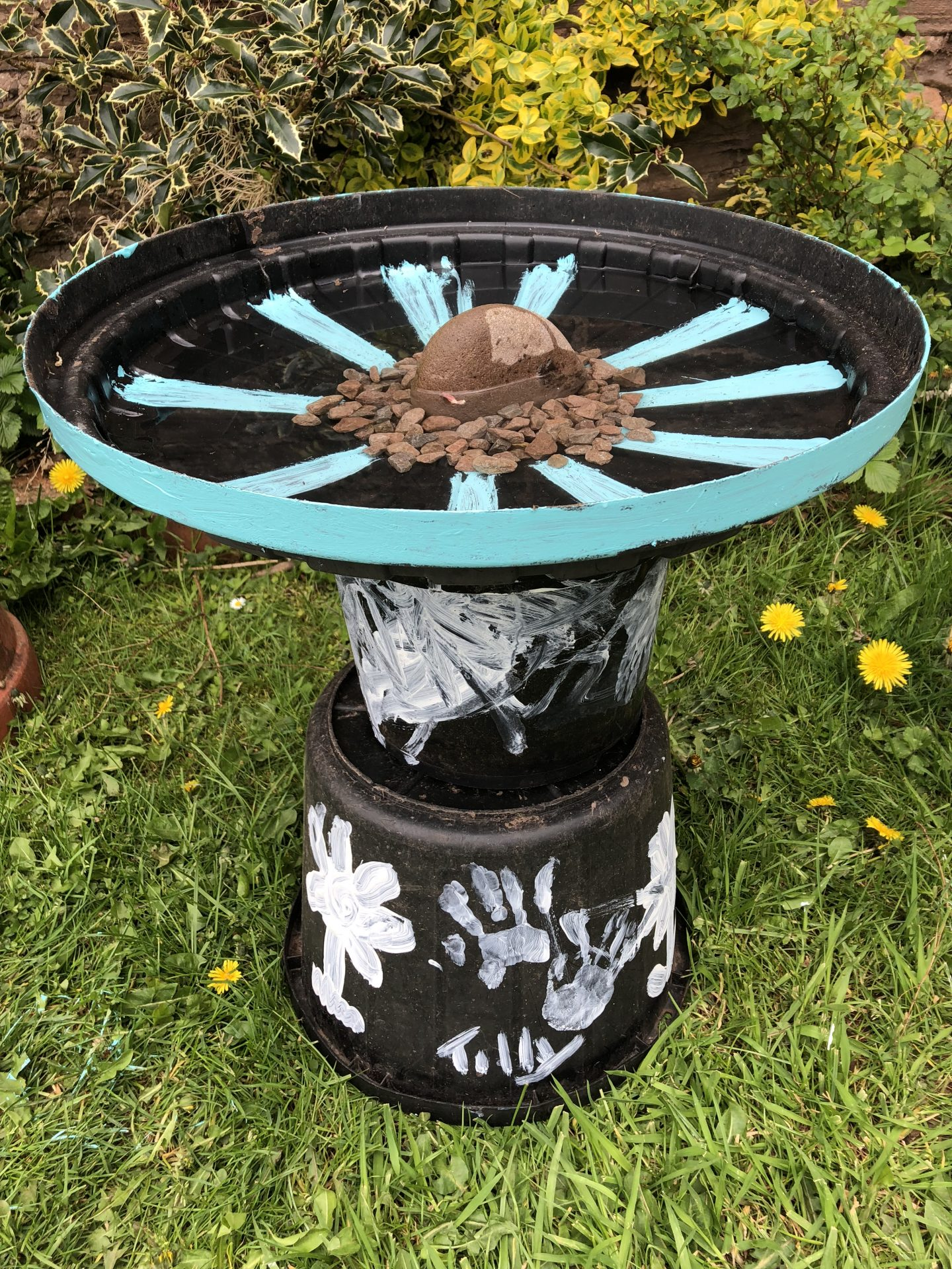 Creating a bird bath
